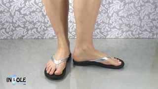 Olukai Kulupa Kai Silver & Black Leather Sandals @TheInsoleStore.com