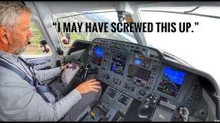 I may have screwed this up! Private Jet Flight