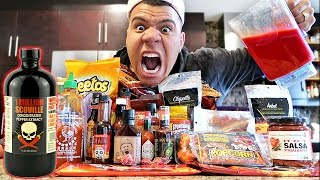 SPICIEST DRINK IN THE WORLD CHALLENGE! (EXTREMELY DANGEROUS)