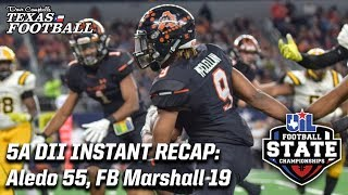 Aledo 55, Fort Bend Marshall 19: 2018 5A DII Texas high school football championship recap