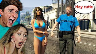 I Caught My Girlfriend Flirting With A COP In GTA 5 Roleplay..