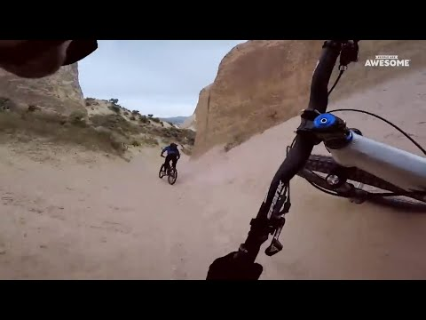 Downhill Mountain Bike POV Speed Runs   People Are Awesome