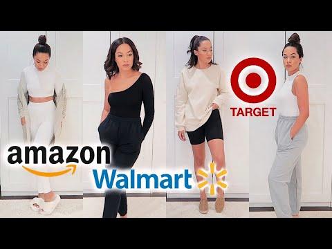 CLOTHING TRY ON HAUL: Walmart, Amazon, Target, Marshalls, Naked Wardrobe | Marie Jay