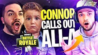 CONNOR CALLS OUT ALI-A?! - Coolest Kid Ever! (Fortnite: Battle Royale)
