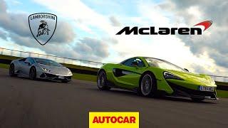 Lamborghini Huracan Evo v McLaren 600LT | Track Review | Autocar