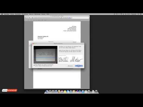 Eigene Unterschrift Am Mac Erstellen Und In Pdf Einfügen