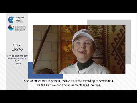 Video feedback of Olha Shkuro, graduate of the Ukraine-Norway project