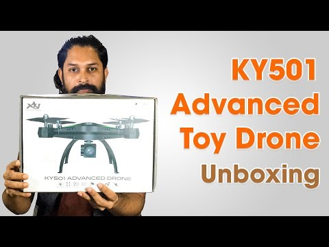 KY501 RC Drone Wifi FPV Quadcopter toy Unboxing in Bangla By Maxtubeee