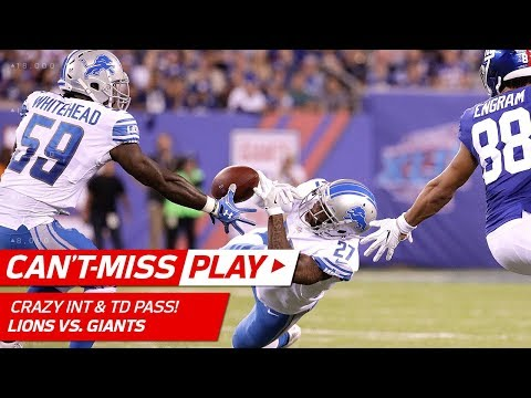Wild INT by Tahir Whitehead Sets Up Stafford's TD Pass! | Can't-Miss Play | NFL Wk 2 Highlights