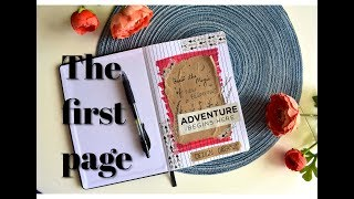 How to design the first page of your diary  First Page Design
