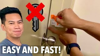 HOW TO OPEN LOCKED DOOR WITHOUT KEY - EASY AND FAST!!