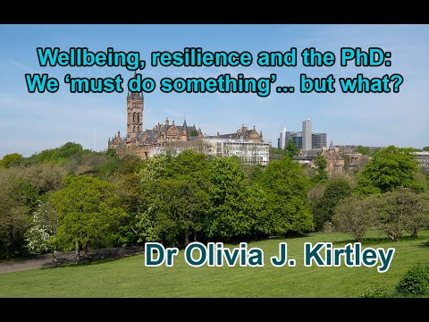 Wellbeing, resilience and the PhD: we need to 'do something'...but what?