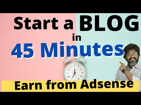 How to Start a Blog and Earn Money with Adsense  - Telugu Video