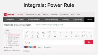 Integrals: Power Rule