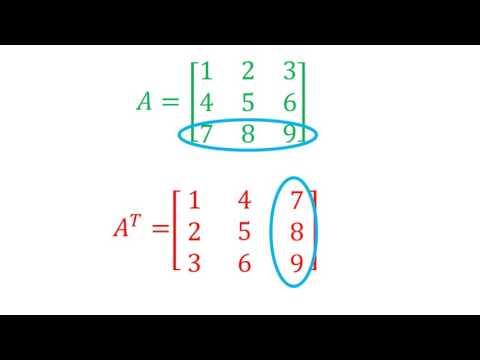 Transpuesta de una matriz 3x3 y 2x3   Álgebra lineal