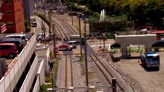 JR九州長崎本線2017.9.8在来線高架工事の進捗「浦上駅~茂里町踏切」Japanese Railway
