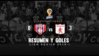 Unión Magdalena Vs América: Resumen Y Goles Del Partido 0-3 - Liga Águila 2019 I