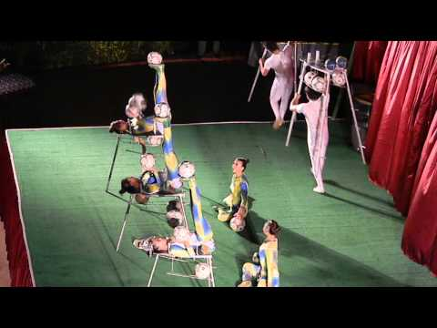 The girls from Chinese Circus performing at Hotel Delphin Deluxe Resort (My trip to Antalya)