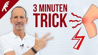 Der 3-Minuten-Trick Gegen Knieschmerzen. ✅ So Schnell Wirst Du Sie Los!