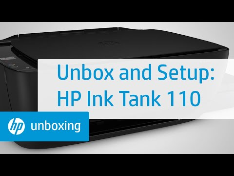 How To Unpack and Set Up the HP Ink Tank 110 Printer Series