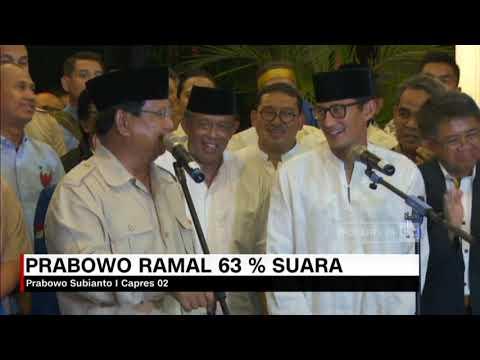 Prabowo Ramal 63% Suara di Pilpres 2019