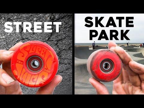 SKATEPARK WHEELS VS STREET SKATEBOARD WHEELS