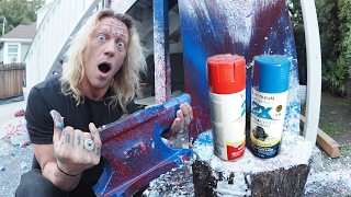HUGE MISTAKE! Anvil Dropped on a Spray Paint Can!