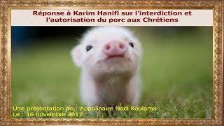 Réponse à Karim Hanifi sur l