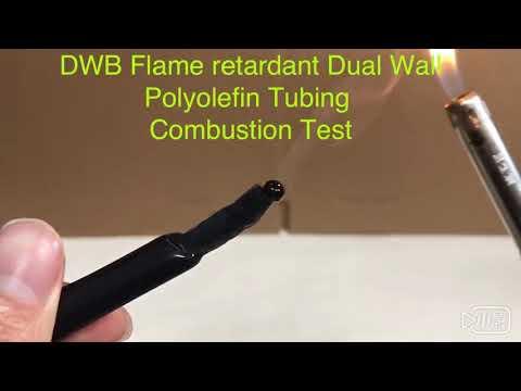 DWB-Flame retardant Dual Wall Polyolefin Tubing . Combustion Test