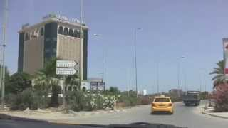 preview picture of video 'Taxi Ride from La Goulette to Carthage, Tunisia - 9th July, 2014'