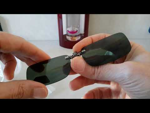 Polarized Clip On Sun Glassess from Banggood