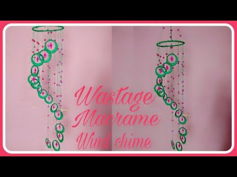 Wastage Macrame simple Jhumar with wastage bangle