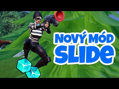 LEDOVÝ MÓD SLIDE A NEKONEČNÝ GRAPPLER! - Fortnite Battle Royale