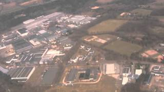 preview picture of video 'Landing at Flughafen Weeze (Weeze Airport), Germany - 25th March, 2013'