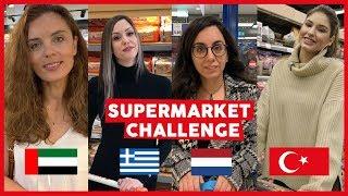 SUPERMARKET CHALLENGE! TURKEY, DUBAI, GREECE, NETHERLANDS, 100 TL, EUR, AED