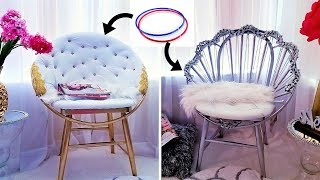 HOW TO MAKE ACCENT CHAIRS WITH HULA HOOPS !!!| 2019 HOME DECOR IDEAS!!!
