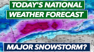 Major Snowstorm in Midwest/Northeast, Snow in California, Rain in South - National Weather Forecast