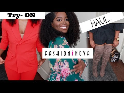 Fashion Nova has conservative pieces?? Shoe/ Clothing Try on Haul: Boots, Heels, a Suit, and Dresses