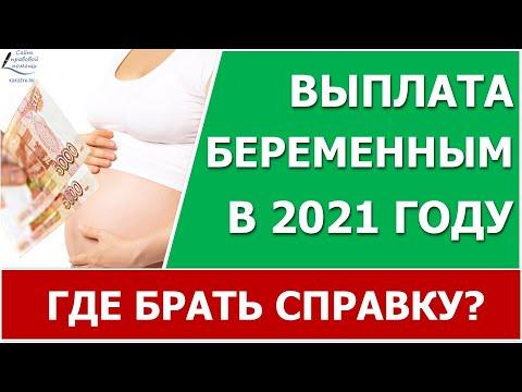 Выплаты беременным в 2021 году. Где брать справку?