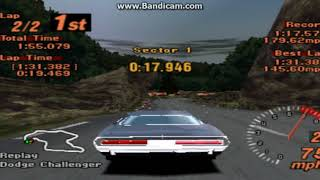 pSX v1.13 Gran Turismo 2 replay trial mountain circuit