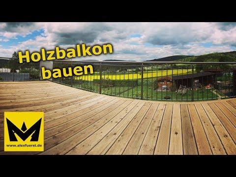 Holzbalkon / Holzterrasse bauen - DIY Anleitung