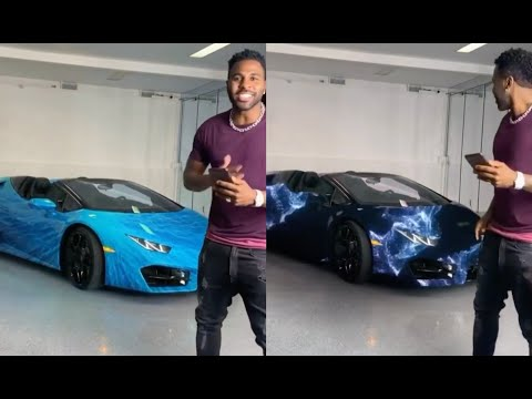 Jason Derulo Buys A Color Changing Lamborghini