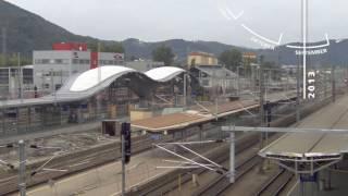 Zeitraffer Hauptbahnhof Graz Richtung Norden