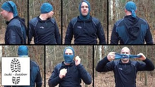 Бандана buff windproof solid new black