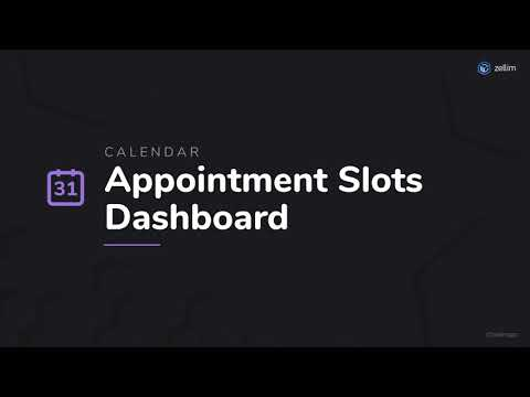 Appointment Slots Dashboard