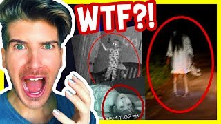 REACTING TO PARANORMAL VIDEOS!
