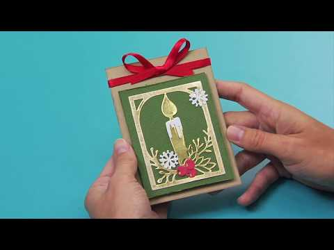 Holiday Cardmaking Die Cut Candle Tutorial | Katelyn Lizardi for Sizzix