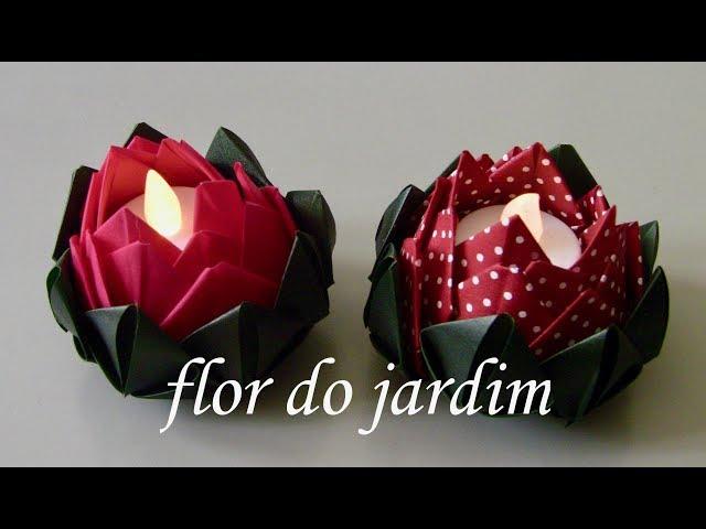 Origami: Flor de Lótus - Intruções em Português BR - YouTube | 480x640