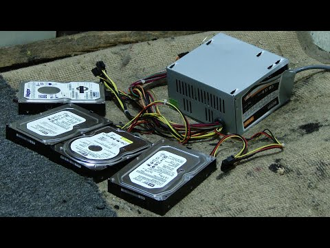 Smash Four Hard Drives While Plugged in