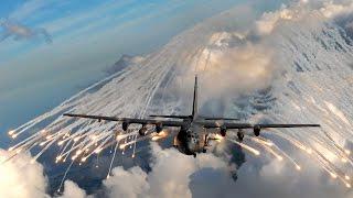 Lockheed AC-130 Gunship Firing and Flying!